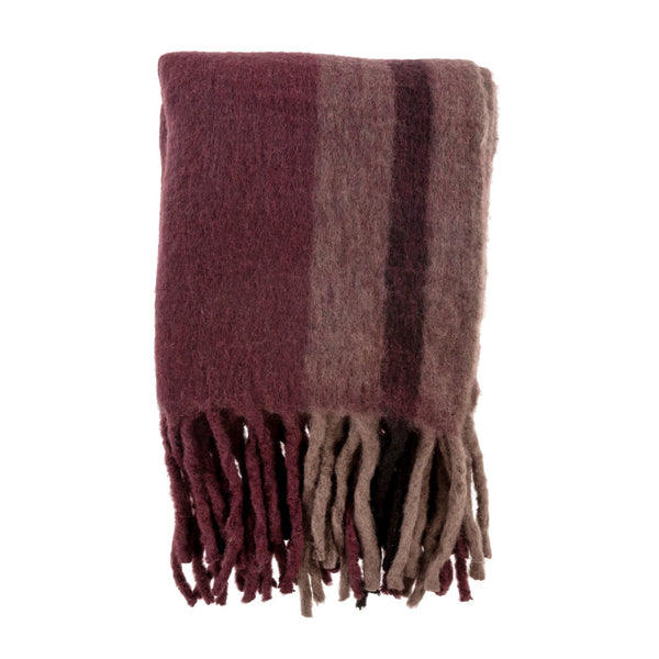 crown and birch whistler woven throw merlot