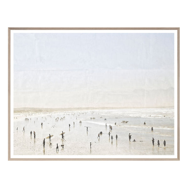 crown and birch white sands framed art