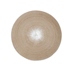 crown and birch willa woven placemat taupe