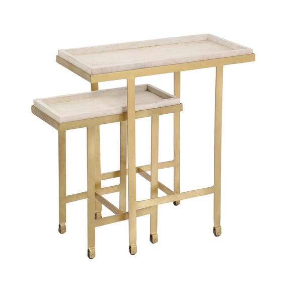 crown and birch willow nesting tables angle