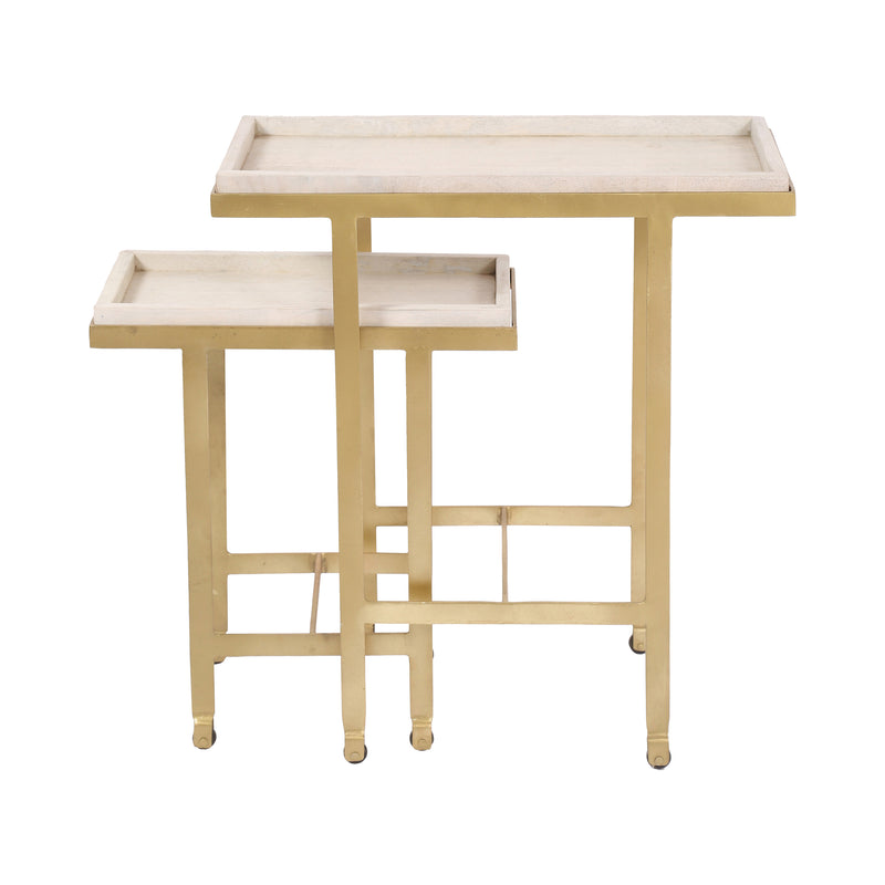 crown and birch willow nesting tables side