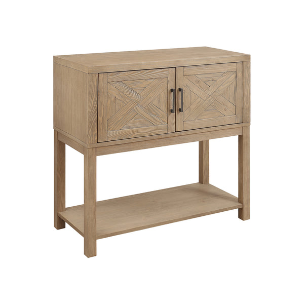 crown and birch wood plank natural console angle