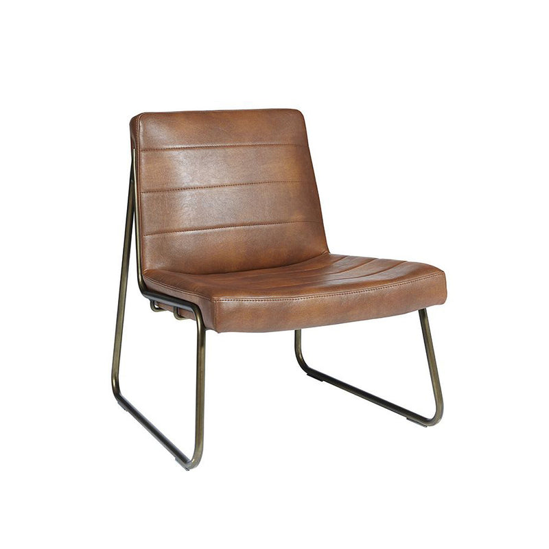crown and birch wren occasional chair cognac angle