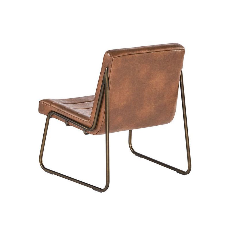 crown and birch wren occasional chair cognac back angle two