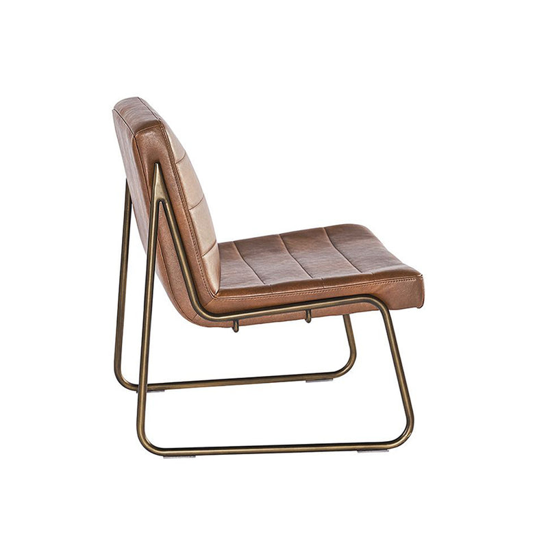 crown and birch wren occasional chair cognac back angle