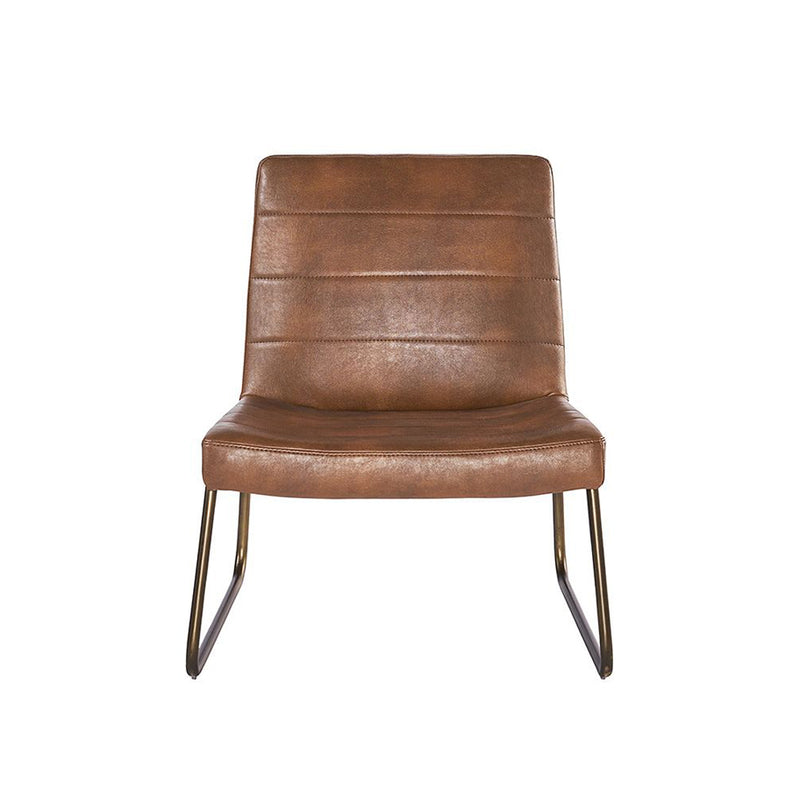 crown and birch wren occasional chair cognac front