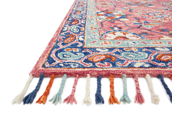 crown and birch zanah rug rose denim detail