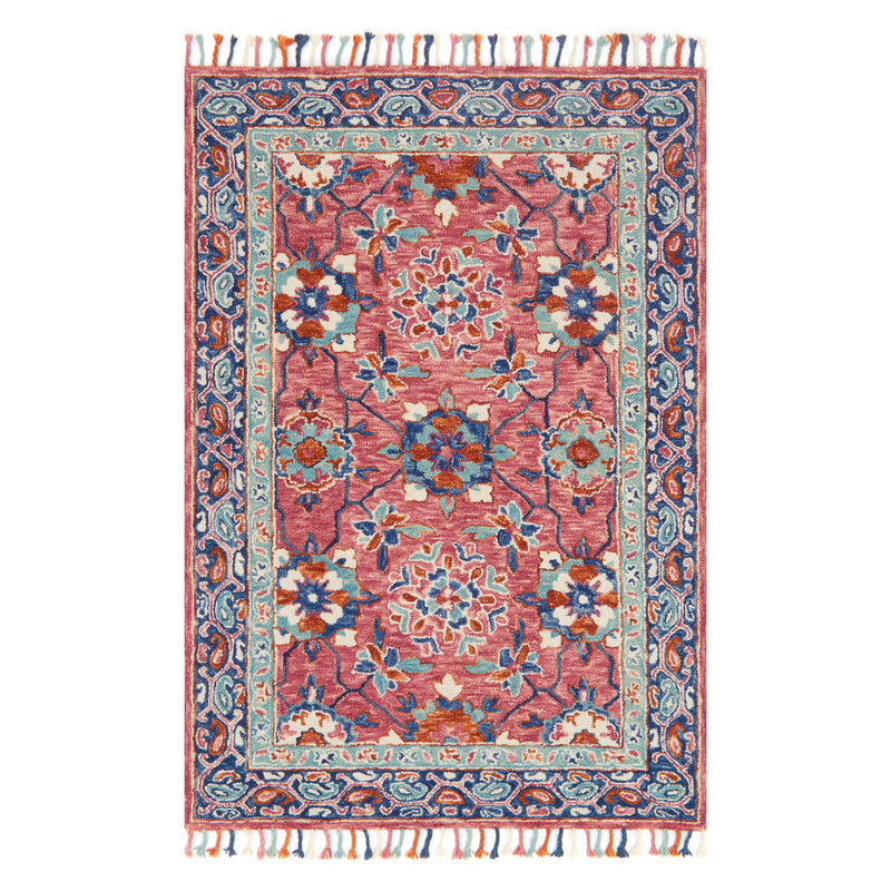 crown and birch zanah rug rose denim front