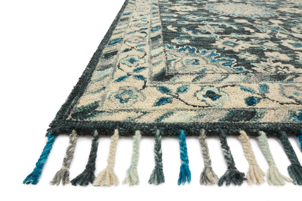 crown and birch zanah rug teal grey detail