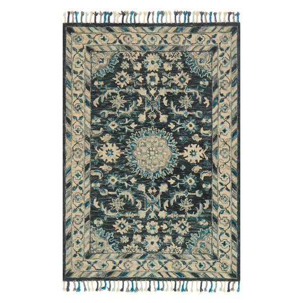 crown and birch zanah rug teal grey front