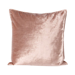 crown and birch blush velvet pillow front pink