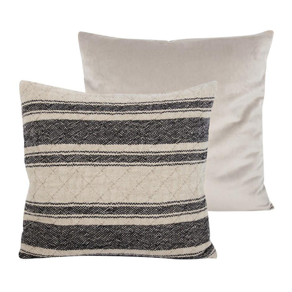 crown and birch cement stripe pillow back