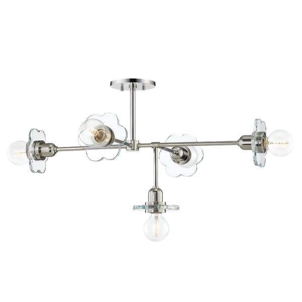 hudson valley lighting mitzi alexa chandelier polished nickel