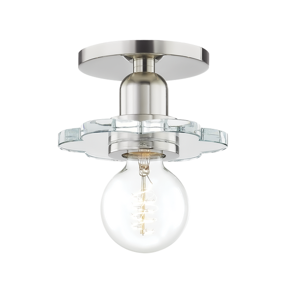 hudson valley lighting mitzi alexa sconce polished nickel front