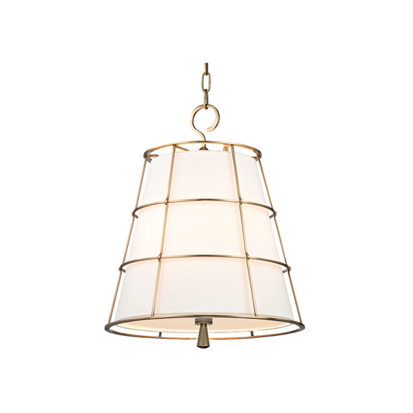 hudson valley lighting savona 18 inch pendant aged brass
