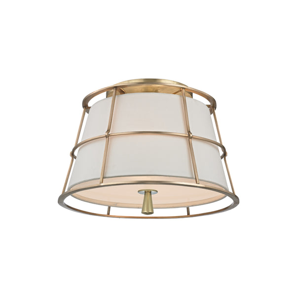 hudson valley lighting savona semi flush aged brass