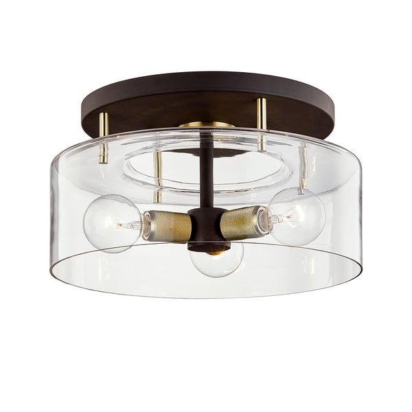troy lighting bergamot station semi flush bronze brass 17 inch