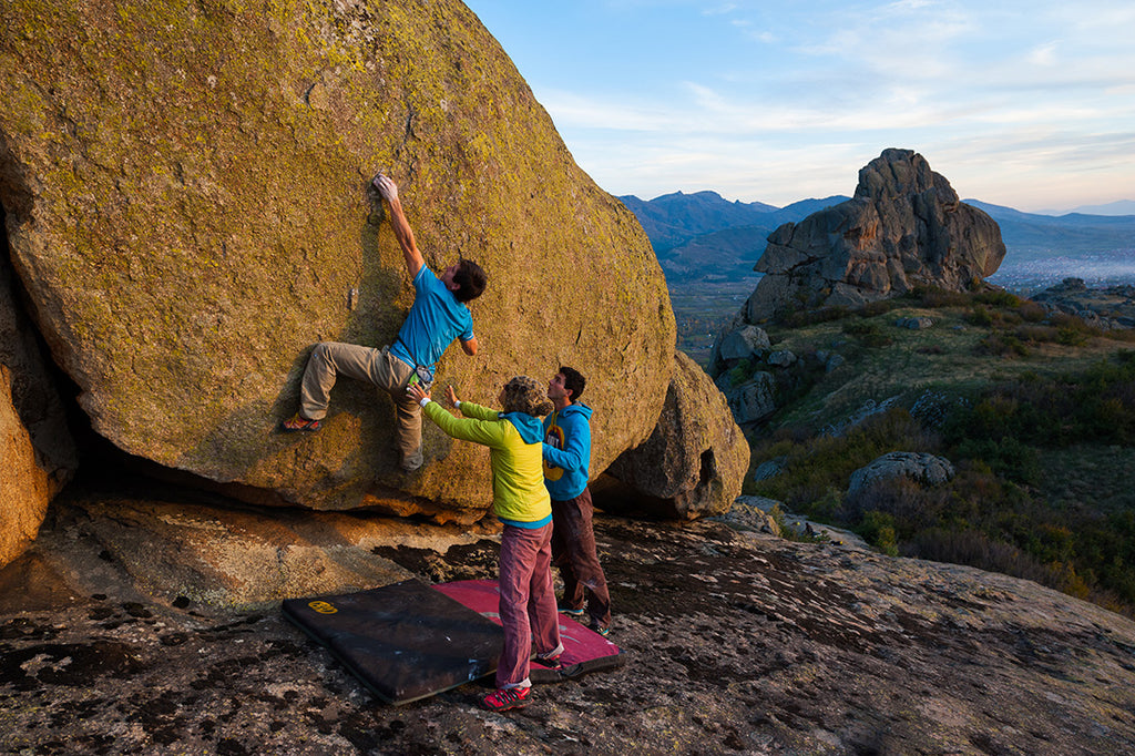 Climbering Bouldering on beautiful rock
