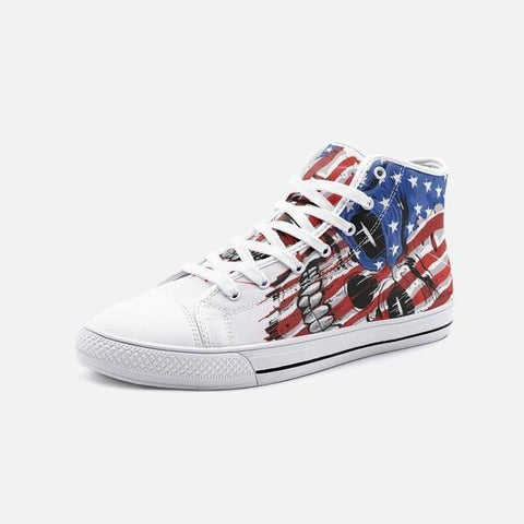 Chaussures style Convers crane USA - 5 Women / Blanc -