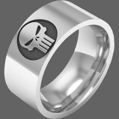 Alliance Punisher homme - 6 - Bague