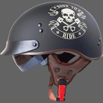 Casque moto vintage tete de mort - Born To Ride / 57-58cm -