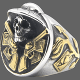 Bague large crane de Cow-boy - Or / 8 - Bague