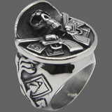 Bague large crane de Cow-boy - Bague