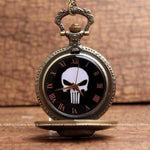 Montre à gousset Punisher | Tetes-de-mort.com