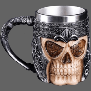 Mugs en relief tete de mort 400ml