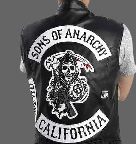 Blouson biker sans manche Sons of Anarchy | Tetes de