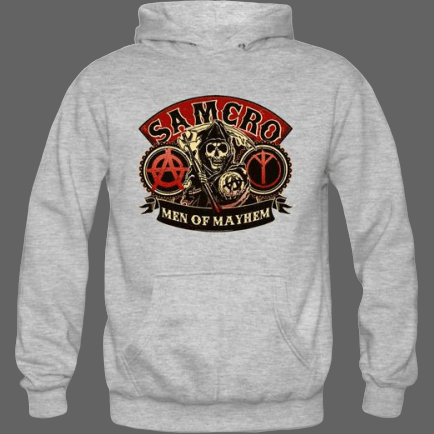 Sweat à capuche Men of Mayhem | Tetes-de-mort.com