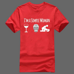 T-shirt I'm a simple woman - Rouge / XL - T-shirt