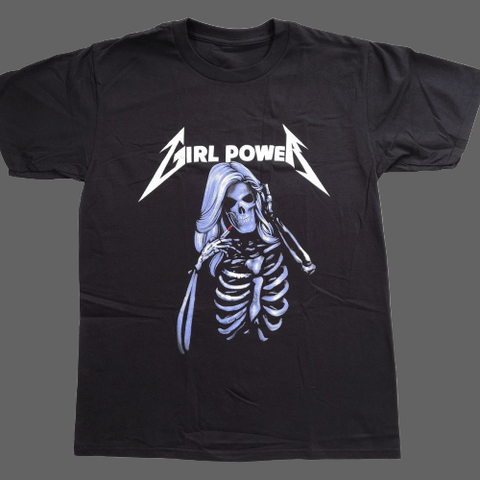 T-shirt Girl Power - Noir / L - T-shirt
