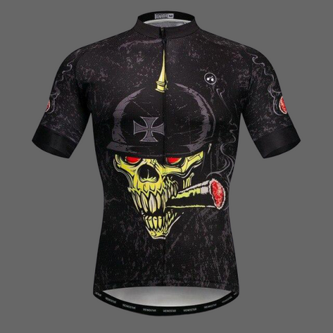 Maillot cycliste Skull militaire