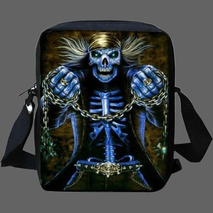 Sac besace Tête de mort chaines - Sac