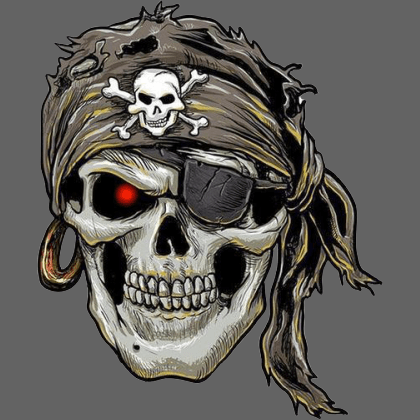 Sticker pirate tête de mort 12.1CM*14.6CM - Sticker