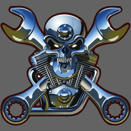 Sticker tete de mort biker - 1 piece - Sticker