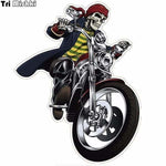 Sticker tete de mort biker 14*18cm - 1 piece - Sticker