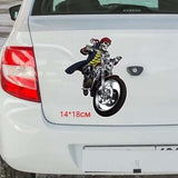 Sticker tete de mort biker 14*18cm - Sticker