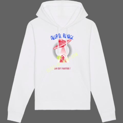 Sweat Alerte Rouge OVNI - Blanc / XS - Sweat
