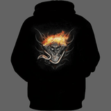 Sweat biker roue en feu - Sweat