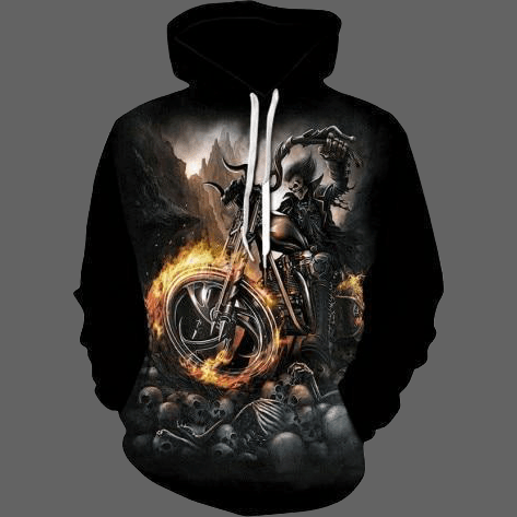 Sweat biker roue en feu - L - Sweat