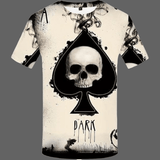 T-shirt Tête de mort as de pique - S - T-shirt