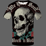 T-shirt Tête de mort Rock 'n Roll - S - T-shirt