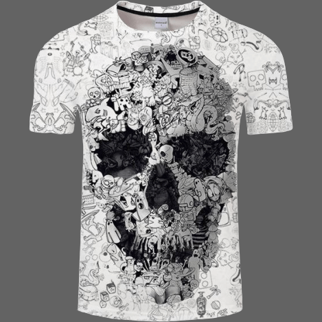 T-shirt tête de mort original - 4XL - T-shirt
