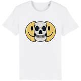 T-shirt smiley tête de mort - Blanc / XS - T-shirt