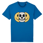 T-shirt smiley tête de mort - Bleu / XS - T-shirt
