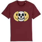 T-shirt smiley tête de mort - Bordeaux / XS - T-shirt
