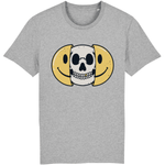 T-shirt smiley tête de mort - Gris / XS - T-shirt