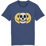 T-shirt smiley tête de mort - Indigo / XS - T-shirt